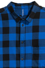 Short-sleeved flannel shirt - Blue/Checked - Men | H&M 3