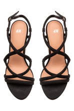 Wedge-heel sandals - Black - Ladies | H&M CN 2
