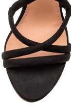 Wedge-heel sandals - Black - Ladies | H&M CN 3