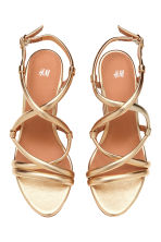Wedge-heel sandals - Gold - Ladies | H&M 2