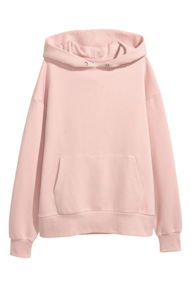 Oversized hooded top - Powder pink -  | H&M