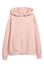 Oversized hooded top - Powder pink - Ladies | H&M CN 2