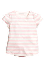 2套入平紋睡衣套裝 - Lt.pink/White stripe - Kids | H&M 4