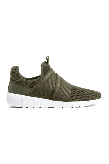 Mesh trainers - Dark khaki green -  | H&M