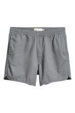 Short cotton twill shorts - Grey - Men | H&M CN 2