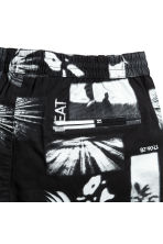 Knee-length twill shorts - Black/Patterned - Men | H&M CN 3