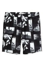 Knee-length twill shorts - Black/Patterned - Men | H&M 2