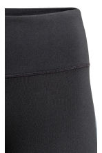 Sports tights - Black/Metallic green - Ladies | H&M 4