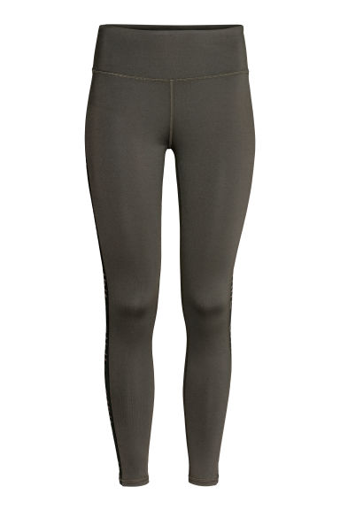 Leggings de desporto - Dark green/Athltc - SENHORA | H&M PT