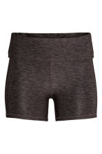 Short yoga tights - Dark grey marl - Ladies | H&M 1