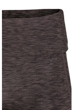 Short yoga tights - Dark grey marl - Ladies | H&M 3
