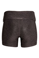 Short yoga tights - Dark grey marl - Ladies | H&M 2