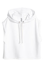 Sleeveless hooded top - White - Ladies | H&M 2