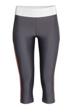 3/4-length sports tights - Dark grey - Ladies | H&M 2