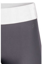 3/4-length sports tights - Dark grey - Ladies | H&M 4
