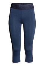3/4-length sports tights - Dark blue - Ladies | H&M CN 2