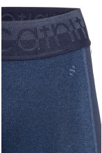 3/4-length sports tights - Dark blue - Ladies | H&M CN 4