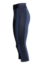 3/4-length sports tights - Dark blue - Ladies | H&M CN 3