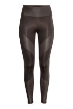 Yoga tights - Dark brown - Ladies | H&M 2