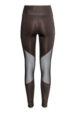 Yoga tights - Dark brown - Ladies | H&M 3