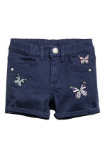 Denim shorts - Dark blue/Butterflies - Kids | H&M CN 2