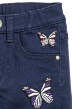 Denim shorts - Dark blue/Butterflies - Kids | H&M CN 4