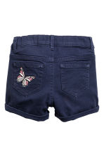 Denim shorts - Dark blue/Butterflies - Kids | H&M CN 3