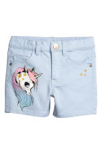 丹寧短褲 - Light blue/Unicorn -  | H&M 2