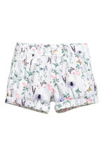 Cotton shorts - White/Patterned - Kids | H&M CA 2