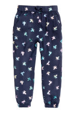 Patterned pull-on trousers - Dk.blue/Unicorn - Kids | H&M 2
