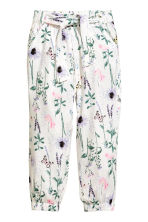 Pantaloni pull-on fantasia - Bianco/fantasia - BAMBINO | H&M IT 2