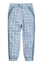 Patterned pull-on trousers - Light blue/Patterned - Kids | H&M 2