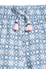 Patterned pull-on trousers - Light blue/Patterned -  | H&M 3