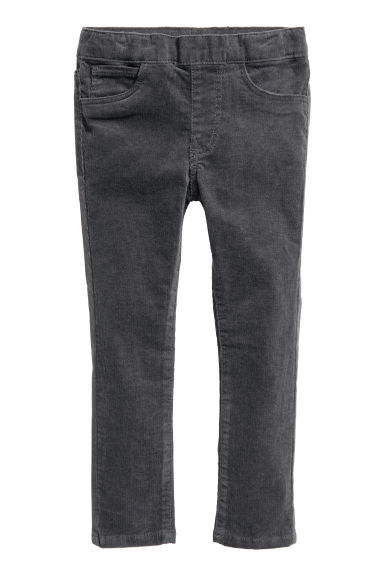 Corduroy treggings - Dark grey -  | H&M CN 1