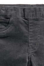 Corduroy treggings - Dark grey -  | H&M CN 2