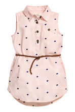 Sleeveless shirt dress - Light pink/Heart - Kids | H&M 2