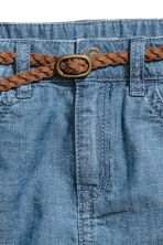 Denim skirt with a belt - Denim blue -  | H&M CN 4