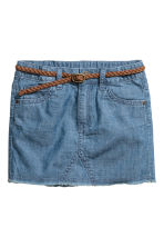 Denim skirt with a belt - Denim blue -  | H&M CN 2