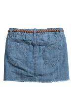 Denim skirt with a belt - Denim blue -  | H&M CN 3