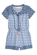 Patterned playsuit - Light blue/Patterned - Kids | H&M 2