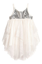Tulle dress - Natural white/Silver -  | H&M 2