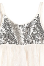 Tulle dress - Natural white/Silver -  | H&M 3