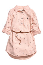 Shirt dress - Powder pink/Hearts - Kids | H&M CN 2