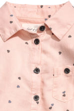 Shirt dress - Powder pink/Hearts - Kids | H&M CN 3