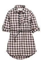 Shirt dress - Light pink/Checked -  | H&M 2