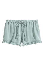 Satin shorts - Dusky green - Ladies | H&M CA 2