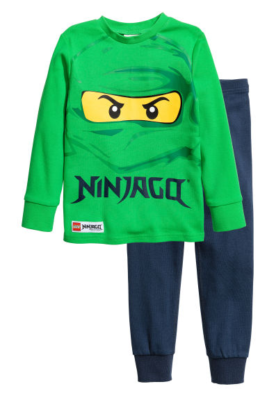 Jersey pyjamas - Green/Lego - Kids | H&M 1