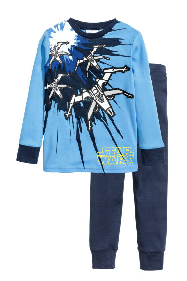 Jersey pyjamas - Blue/Star Wars - Kids | H&M 1