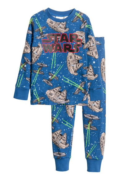 Jersey pyjamas - Blue/Star Wars - Kids | H&M CN