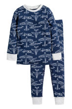 Jersey pyjamas - Dark blue/Planes - Kids | H&M 1